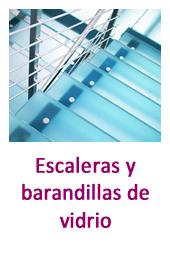 Escaleras y barandillas de vidrio