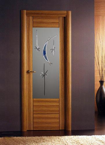Vidrios decoraci n en talla yago cristaler a - Vinilos para puertas de madera ...