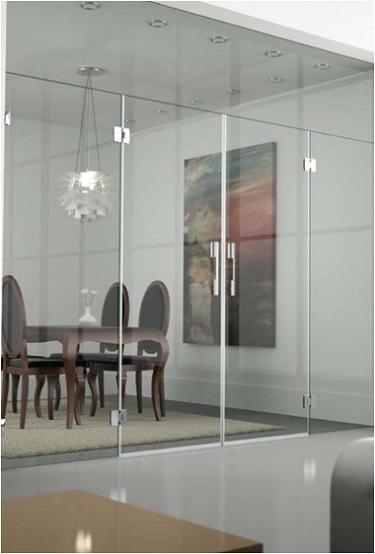 Puertas de vidrio abatibles yago cristaler a - Puertas abatibles cristal ...