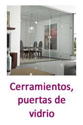 Cerramientos, puertas de vidrio