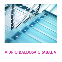 VidrioBALDOSA GRABADA